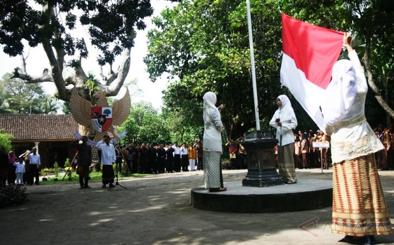 upacara di halaman Situs Bung Karno Kediri
